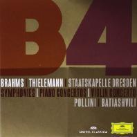 SYMPHONIES, PIANO & VIOLIN CONCERTO/ LISA BATIASHVILI, MAURIZIO POLLINI, CHRISTIAN THIELEMANN [3CD+DVD] [브람스: 교향곡 전곡+협주곡]
