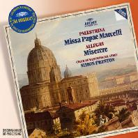 MISSA PAPAE MARCELLI & MISERERE/ SIMON PRESTON [THE ORIGINALS] [팔레스트리나: 마르첼 교황 미사 & 알레그리: 미제레레]