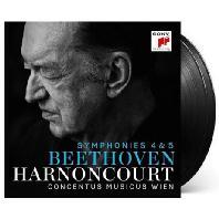 SYMPHONIES 4 & 5/ CONCENTUS MUSICUS WIEN, NIKOLAUS HARNONCOURT [180G LP] [베토벤: 교향곡 4 & 5번 - 니콜라우스 아르농쿠르] [한정반]