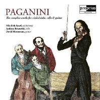 COMPLETE WORKS FOR VIOLIN, VIOLA, CELLO & GUITAR/ NILS-ERIK SPARF, ANDREAS BRANTELID, DAVID HARENSTAM [파가니니: 바이올린과 비올라, 첼로와 기타를 위한 작품집]
