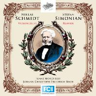 WORKS FOR CELLO AND PIANO/ NIKLAS SCHMIDT, STEPHAN SIMONIAN [모셸레스: 첼로와 피아노를 위한 바흐 <평균율 클라비어 곡집>편곡]