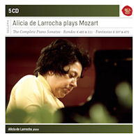THE COMPLETE PIANO SONATAS/ ALICIA DE LARROCHA [SONY MASTERS] [알리시아 데 라로차가 연주하는 모차르트 피아노 소나타, 판타지아 & 론도]