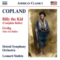 BILLY THE KID, GROHG/ LEONARD SLATKIN [코플랜드: 발레음악 작품 3집 - 빌리 더 키즈 & 크로크]