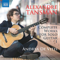 COMPLETE WORKS FOR SOLO GUITAR/ ANDREA DE VITIS [탄스만: 기타 독주를 위한 음악 1권 - 안드레아 데 비티즈]