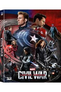 캡틴 아메리카: 시빌 워 3D+2D [풀슬립 A2 스틸북 한정판] [CAPTAIN AMERICA: CIVIL WAR]
