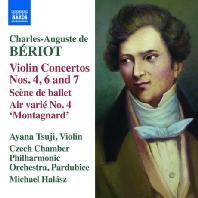 VIOLIN CONCERTOS 4, 6 & 7/ AYANA TSUJI, MICHAEL HALASZ [오귀스테 드 베리오: 바이올린 협주곡, 발레 정경, 에르 바리에 4번(몽타냐르)]