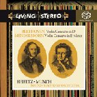 VIOLIN CONCERTO/ JASCHA HEIFETZ, CHARLES MUNCH [SACD HYBRID] [LIVING STEREO]