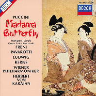 MADAMA BUTTERFLY HIGHLIGHTS/ FRENI/ PAVAROTTI/ KARAJAN