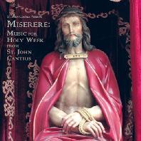 MISERERE: MUSIC FOR HOLY WEEK FROM ST. JOHN CANTIUS/ SAINT CECILIA CHOIR, DANIEL V. ROBINSON [성 체칠리아 합창단: 미제레레 - 세인트 존 칸티우스의 성주간 음악]
