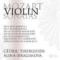 VIOLIN SONATAS NO.6, 7, 19, 29, 35/ ALINA IBRAGIMOVA, CEDRIC TIBERGHIEN [모차르트: 바이올린 소나타 5집 - 알리나 이브라기모바]