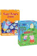 뉴 페파피그 1집+뉴 슈퍼심플송 베스트컬렉션 18종세트 [9DVD+9CD] [NEW PEPPA PIG+SUPER SIMPLE SONGS]