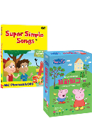 뉴 페파피그 1집+뉴 슈퍼심플송 ABC파닉스&워드 18종세트 [9DVD+9CD] [NEW PEPPA PIG+SUPER SIMPLE SONGS]