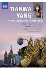 LIVE IN CONCERT IN ST PETERSBURG: VIOLIN CONCERTOS & SONATA/ VLADIMIR LANDE [차이코프스키 & 브람스: 바이올린협주곡 외]