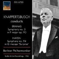 SYMPHONY NO.3 & NO.94/ HANS KNAPPERTSBUSCH [브람스: 교향곡 3번 & 하이든: 교향곡 94번 - 한스 크나퍼츠부쉬]