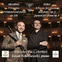CLARINET WORKS/ VINCENZO PACI, JAKUB TCHORZEWSKI [브람스: 클라리넷 소나타 1, 2번 & 베르크: 네 개의 소품, 피아노 소나타 - 빈센초 파치]