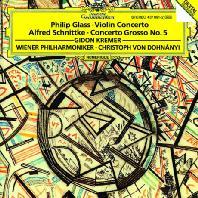 VIOLIN CONCERTO & CONCERTO GROSSO NO.5/ GIDON KREMER, CHRISTOPH VON DOHNANYI [글래스: 바이올린 협주곡 & 슈니트케: 콘체르토 그로소 - 크레머 & 도흐나니]