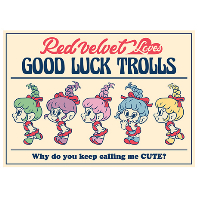 LOVES GOOD LUCK TROLLS - POSTCARD [B TYPE]