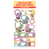 LOVES GOOD LUCK TROLLS - LABEL STICKER