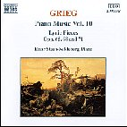 PIANO MUSIC VOL.10/ LYRIC PIECES OP.65,68,71/ EINAR STEEN NOKLEBERG