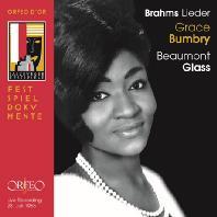 LIEDER/ GRACE BUMBRY [브람스: 1965년 잘츠부르크 페스티벌 가곡의 밤 실황 - 그레이스 범브리]