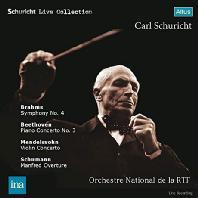 BRAHMS, BEETHOVEN, MENDELSSOHN, SCHUMANN - LIVE RECORDING/ CARL SCHURICHT [브람스: 교향곡 4번, 베토벤: 피아노 협주곡 3번, 멘델스존: 바이올린 협주곡, 슈만: 만프레드 서곡 - 칼 슈리히트]