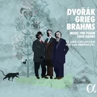 MUSIC FOR PIANO FOUR HANDS/ CLAIRE CHEVALLIER, JOS VAN IMMERSEEL [드보르작, 그리그, 브람스: 네 손을 위한 피아노 작품집 - 이메르세일 & 슈발리에]