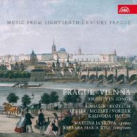 MUSIC FROM 18TH CENTURY PRAGUE: PRAGUE - VIENNA JOURNEY IN SONGS/ MARTINA JANKOVA, BARBARA MARIA WILLI [마르티나 얀코바: 프라하-빈 여행의 노래 - 코젤루, 모차르트, 뢰즐러 외 가곡]