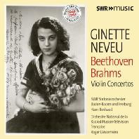 BEETHOVEN & BRAHMS: VIOLIN CONCERTOS/ HANS ROSBAU, ROGER DESORMIERE [지네트 느뵈: 베토벤 & 브람스: 바이올린 협주곡]