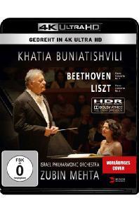 PIANO CONCERTO NO.2 & NO.1/ KHATIA BUNIATISHVILI, ZUBIN MEHTA [4K UHD] [카티아 부니아티쉬빌리 & 주빈 메타: 리스트 피아노 협주곡 2번 & 베토벤: 피아노 협주곡 1번 (텔 아비브 라이브)]