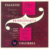 PAGANINI & SAINT-SAENS: VIOLIN CONCERTOS [지노 프란체스카티: 파가니니, 생상 바이올린 협주곡]
