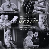SONATAS FOR PIANO FOUR HANDS KV 521 & KV 497/ FERENC RADOS, KIRILL GERSTEIN [모차르트: 네 손을 위한 피아노 소나타 - 라도스, 게르슈타인]
