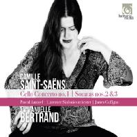 CELLO CONCERTO NO.1 & SONATAS NOS.2, 3 / EMMANUELLE BERTRAND, JAMES GAFFIGAN [생상스: 첼로 협주곡 1번, 첼로 소나타 1 & 2번]