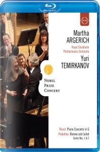 NOBEL PRIZE CONCERT/ <!HS>MARTHA<!HE> ARGERICH, YURI TEMIRKANOV [노벨상 기념 콘서트 2009: 라벨 피아노 협주곡, 프로코피예프 로미오와 즐리엣] [블루레이 전용플레이어 사용]