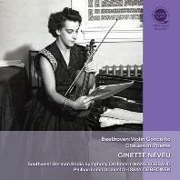 BEETHOVEN: VIOLIN CONCERTO & CHAUSSON: POEME/ HANS ROSBAUD, ISSAY DOBROWEN [지네트 느뵈 탄생 100주년 기념: 베토벤: 바이올린 협주곡 & 쇼송: 포엠]