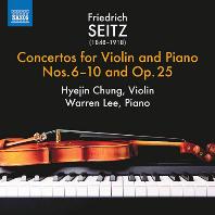 CONCERTOS FOR VIOLIN & PIANO NOS.6-10 & OP.25/ HYEJIN CHUNG, WARREN LEE [자이츠: 바이올린과 피아노를 위한 협주곡 - 정혜진]