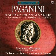 PLAYED ON PAGANINI`S VIOLIN VOL.1: VIOLIN CONCERTOS/ MASSIMO QUARTA [SACD HYBRID] [파가니니 바이올린으로 연주한 파가니니 음악 1집: 바이올린 협주곡 1,2번]