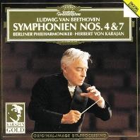SYMPHONIE NO.4 & 7/ HERBERT VON KARAJAN [KARAJAN GOLD] [베토벤: 교향곡 4, 7번 - 베를린 필하모닉, 카라얀]