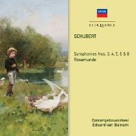 SYMPHONIES NOS.3, 4, 5, 6 & 8/ EDUARD VAN BEINUM [슈베르트: 교향곡, 로자문데 - 반 베이눔]