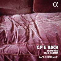 SYMPHONIES & CELLO CONCERTO/ CAFE ZIMMERMANN [ALPHA COLLECTION 46] [C.P.E 바흐: 교향곡 & 첼로 협주곡 - 카페 침머만]