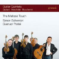 THE MALTESE TOUCH: GUITAR QUINTETS/ SIMON SCHEMBRI, QUATUOR PARISII [줄리아니: 기타 협주곡 1번 & 보케리니: 기타 오중주 <판당고> 등]