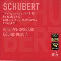 슈베르트 - 피아노 소나타 20번 D.959, 환상곡 D.940, 알레그로 D.947, 론도 D.951