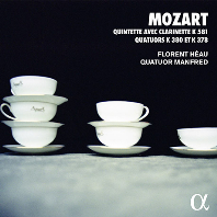 QUINTETTE AVEC CLARINETTE K.581 & QUATUORS K.380 & K.378/ FLORENT HEAU, QUATUOR MANFRED [ALPHA COLLECTION 69] [모차르트: 클라리넷 5중주 & 4중주 - 플로랑 에오, 만프레드 사중주단]