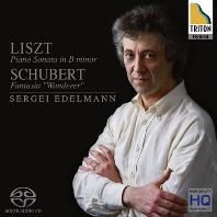 PIANO SONATAS & FANTASIA WANDERER/ SERGEI EDELMANN [SACD HYBRID] [리스트: 피아노 소나타, 슈베르트: 방랑자 환상곡 - 세르게이 에델만]