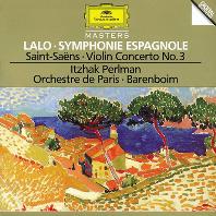 SYMPHONIE ESPAGNOLE & VIOLIN CONCERTO NO.3/ ITZHAK PERLMAN, DANIEL BARENBOIM [랄로: 스페인 교향곡 & 생상스: 바이올린 협주곡 3번 - 펄만, 바렌보임]