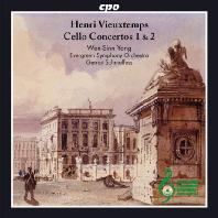 CELLO CONCERTOS 1 & 2/ WEN-SINN YANG, GERNOT SCHMALFUSS [비외탕: 첼로 협주곡, 카프리치오 <파가니니에게 바치는 오마주>]