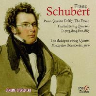PIANO QUINTET D667 'THE TROUT & LAST STRING QUARTETS/ BUDAPEST STRING QUARTET [슈베르트: 피아노 5중주 <송어>, 현악 사중주 12~15번 - 부다페스트 현악 사중주단]