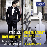 DON QUIXOTE, SONATA FOR CELLO AND PIANO/ DANIEL MULLER-SCHOTT, ANDREW DAVIS [슈트라우스: 돈키호테, 첼로 소나타 - 다니엘 뮐러-쇼트]