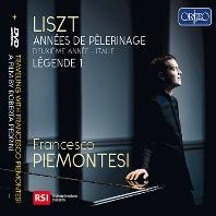 ANNEES DE PELERINAGE/ FRANCESCO PIEMONTESI [CD+DVD] [리스트: 순례의 해 2권 - 이탈리아ㅣ프란체스코 피에몬테시]