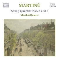 STRING QUARTETS NOS.3 & 6/ MARTINU QUARTET [마르티누: 현악 사중주 3, 6번 - 마르티누 사중주단]
