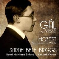CONCERTO FOR PIANO & ORCHESTRA, PIANO CONCERTO NO.22/ SARAH BETH BRIGGS, KENNETH WOODS [갈: 피아노 협주곡 & 모차르트: 피아노 협주곡 22번]